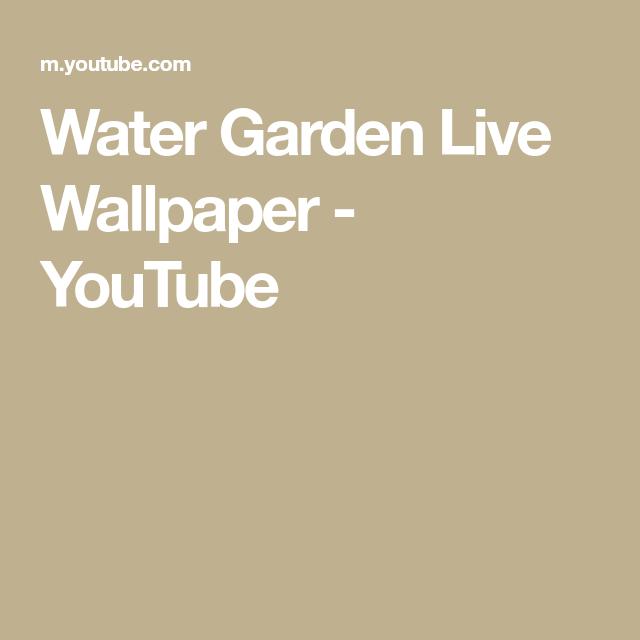 Water Garden Live Wallpaper Youtube Water Garden Live Wallpapers Garden Living