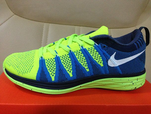 timeless design 6bba2 99174 Women Nike Flyknit Lunar2 Lunar 2 Electric Green Hyper Blue Flash Lime