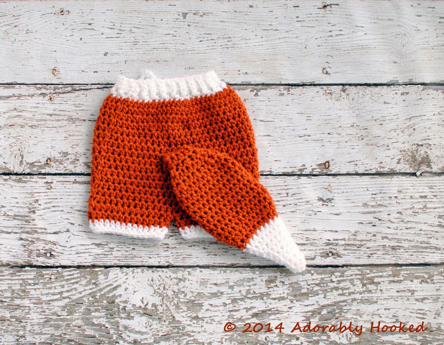 Free Pattern Adorably Hooked Fox Tail A For Your Mom N Bab Sweater Orange Bottom