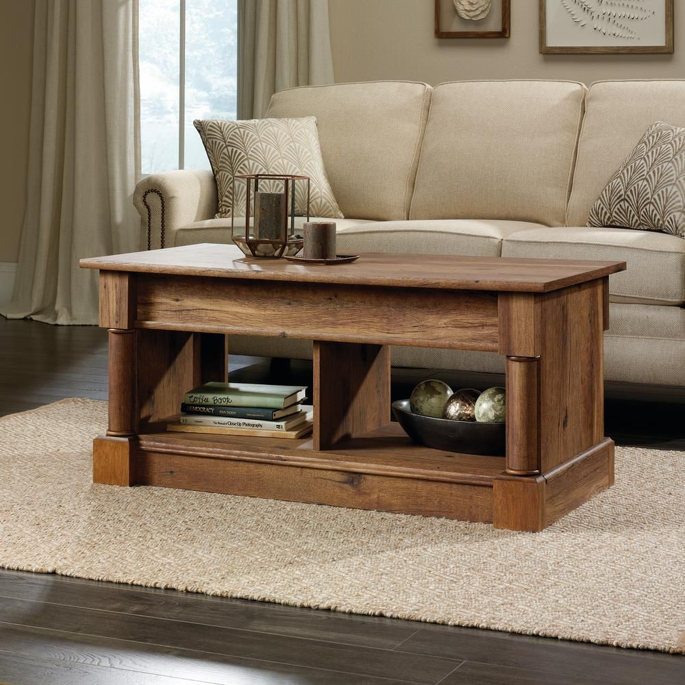 Sauder Palladia Collection Vintage Oak Lift Top Coffee Table 3