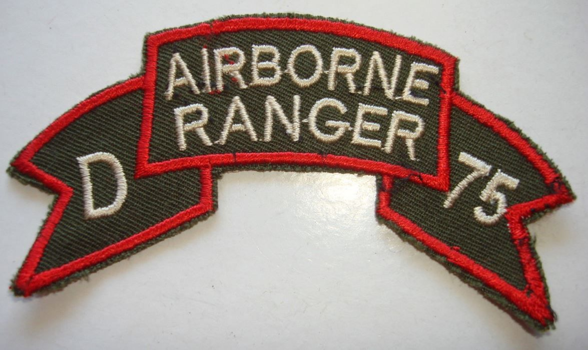 "D Co II FIELD FORCE ""AIRBORNE RANGER"" 75th Infantry - Vietnam War Scroll Patch"