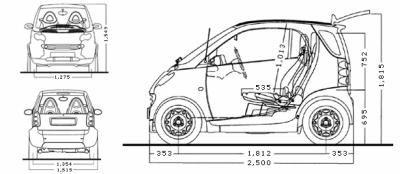 Dimensions Of Smart Car Intoautos Image Results