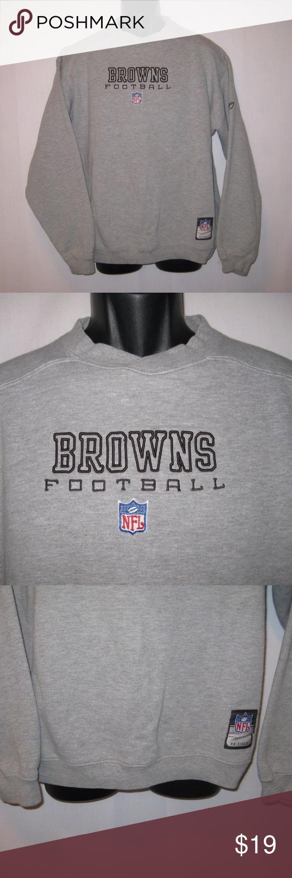 Reebok Cleveland Browns Sweatshirt Nfl Team Sz M Cleveland Browns Sweatshirt Sweatshirts Reebok [ 1740 x 580 Pixel ]