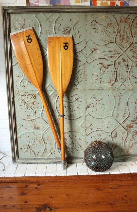 Vintage Klepper wooden kayak Paddle Oar  Comes apart