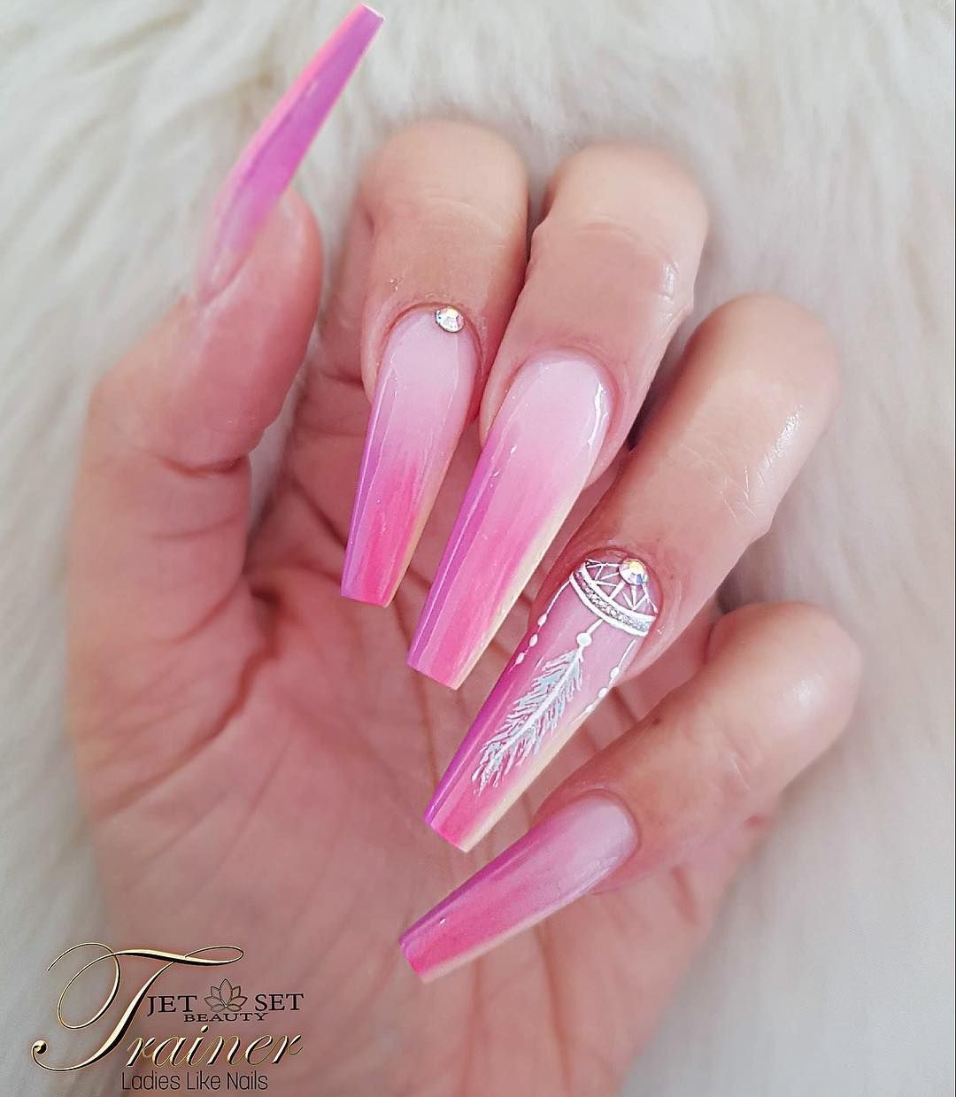 Summer Ombre Jet Set Beauty Nails Ladies Like Nails Livingcoral