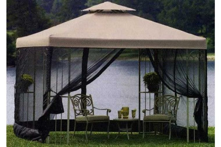 Bhg Emerald Coast 12x10 Ft Steel Pergola Canopy Gazebo Replacement Canopy Pergola Canopy Gazebo