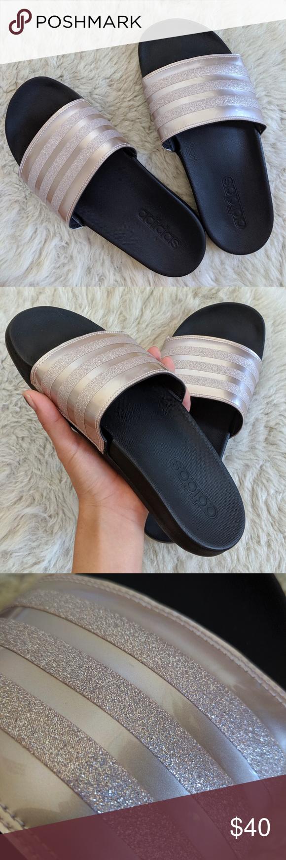 Adidas adilette comfort slides rose