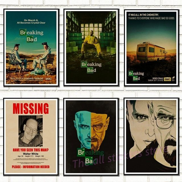 Breaking Bad Posters Movie Vintage Kraft Paper Retro Wall Sticker Home Decor 5056 Review
