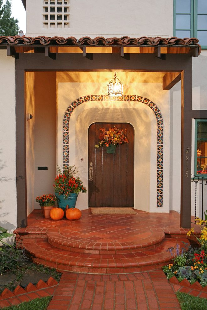 Artistic tile trim home remodel mediterranean entry other for Terrazas mexicanas