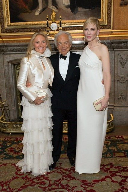Ricky and Ralph Lauren with Cate Blanchett.