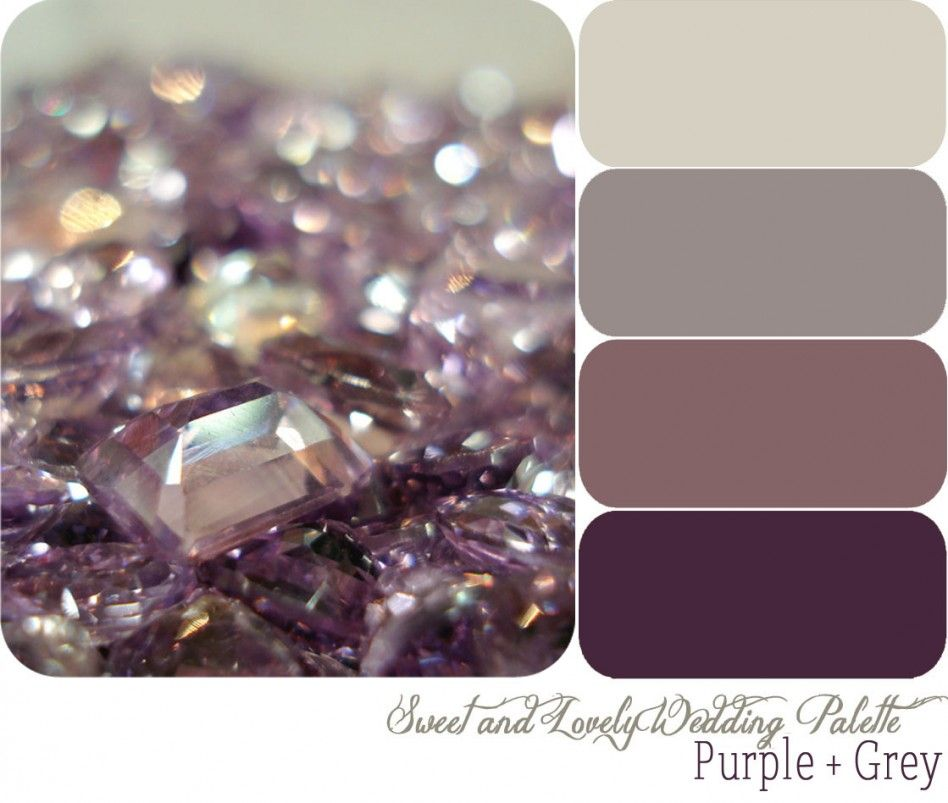 Purple Color Schemes chic purple color schemes, decoration idea, wedding color palette
