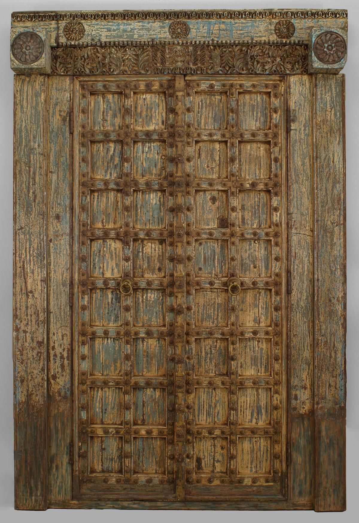 Asian Indian Southeast Asian architectural element doors painted & Asian Indian Southeast Asian architectural element doors painted ... Pezcame.Com