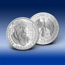 Gedenkmünze 5 Dm Deutschland Gerhard Mercator 1969 Deutsche Mark