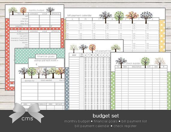 Budget Planning Printable Set ItS More Fun When ItS Cute