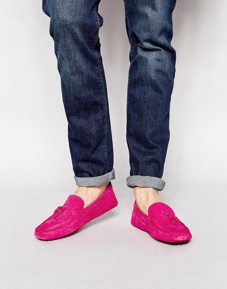 6db7ac48ad0 Is it wrong that i really love these ! ASOS Driving Shoes in Pink Suede  With Tassel  loafers