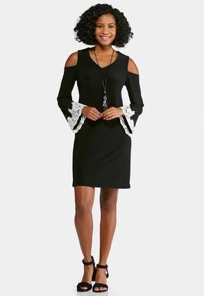 Cato Fashions Cold Shoulder Swing Dress  CatoFashions  84bada7c9