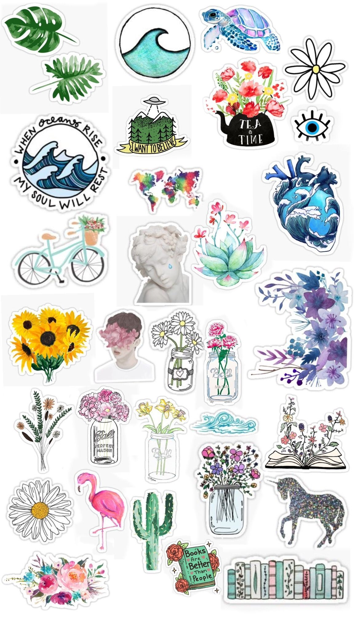 Cute Aesthetic Stickers Printable