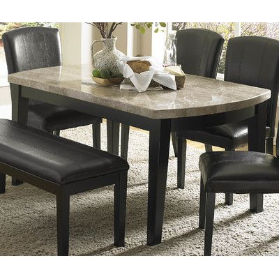 Latitude Run Beta 4 Piece Dining Set Granite Dining Table