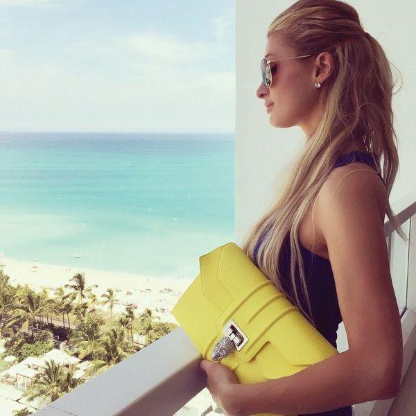 Paris Hilton  - Philipp Plein Clutch Bag