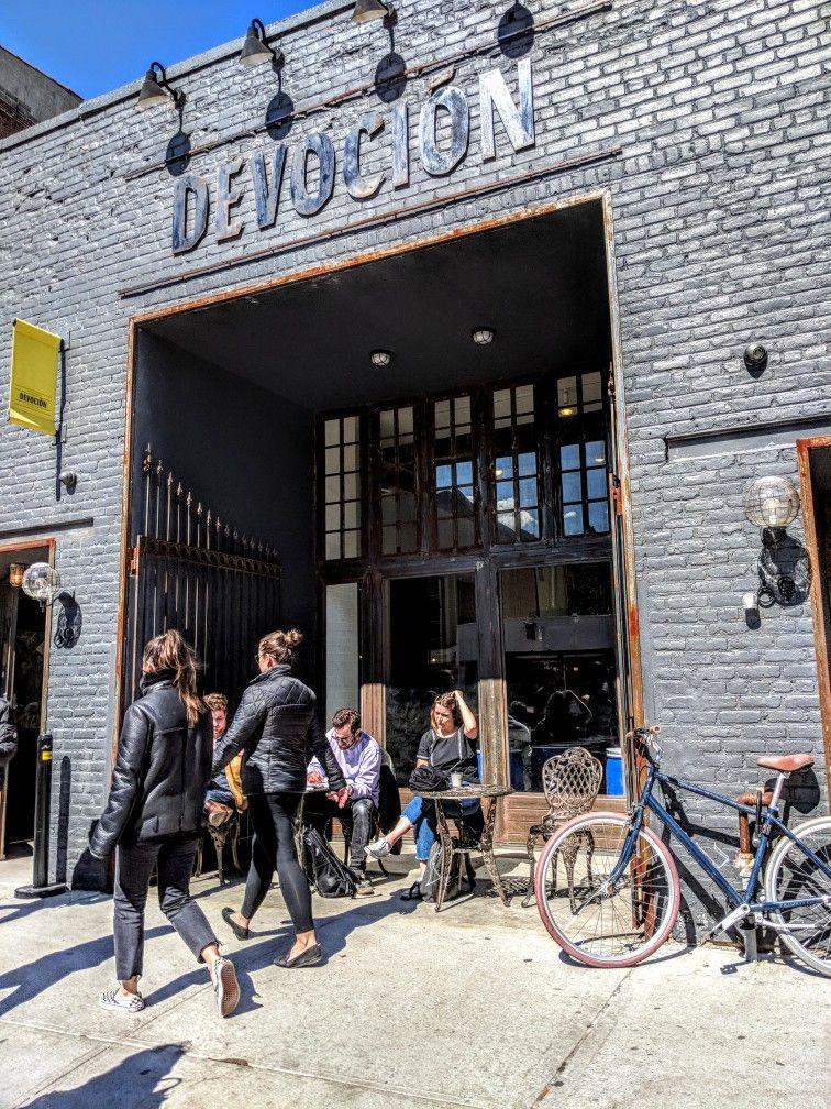 Devocion coffee shop | Ny trip, East coast, Facade