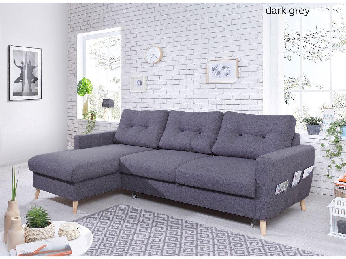 Bobochic Scandi Hoekbank Dark Grey Hoekbank Slaapbank Elle Decor