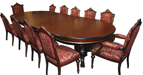 Amazing Beautiful 13 Pc. Walnut Renaissance Revival Dining Set C. 1880 For Sale |
