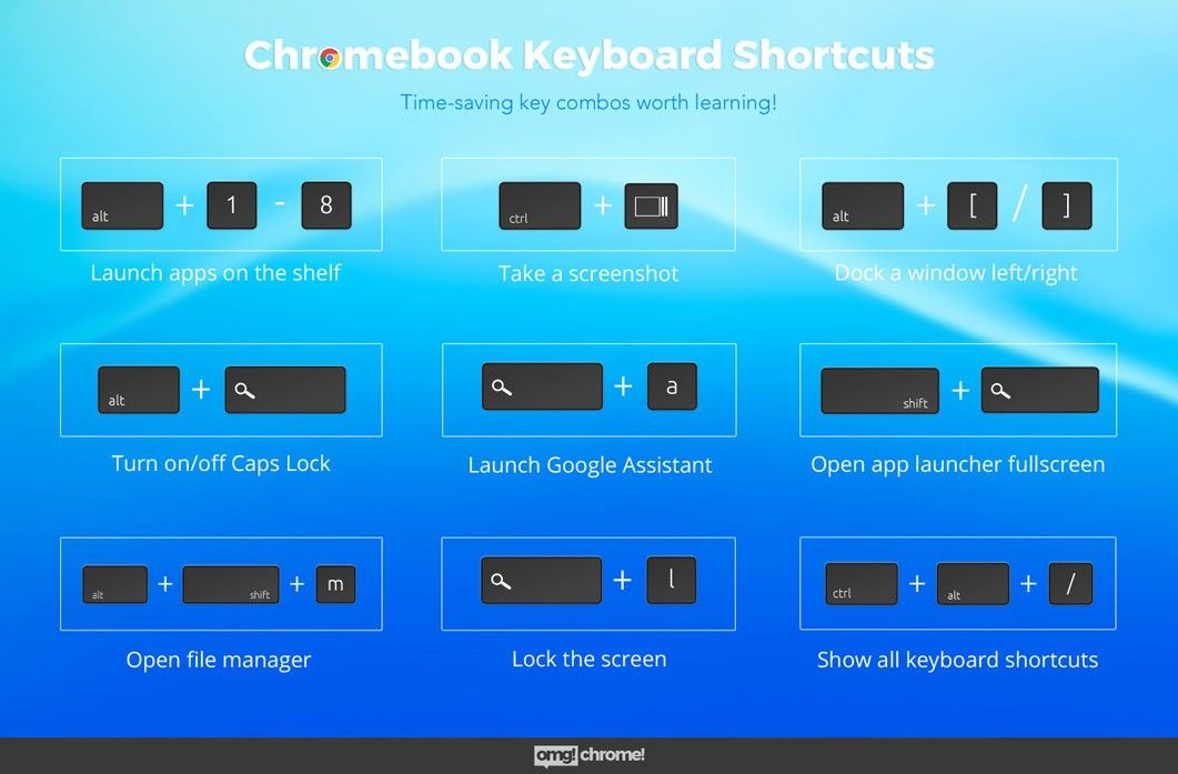 Chromebook keyboard shortcuts that may surprise you