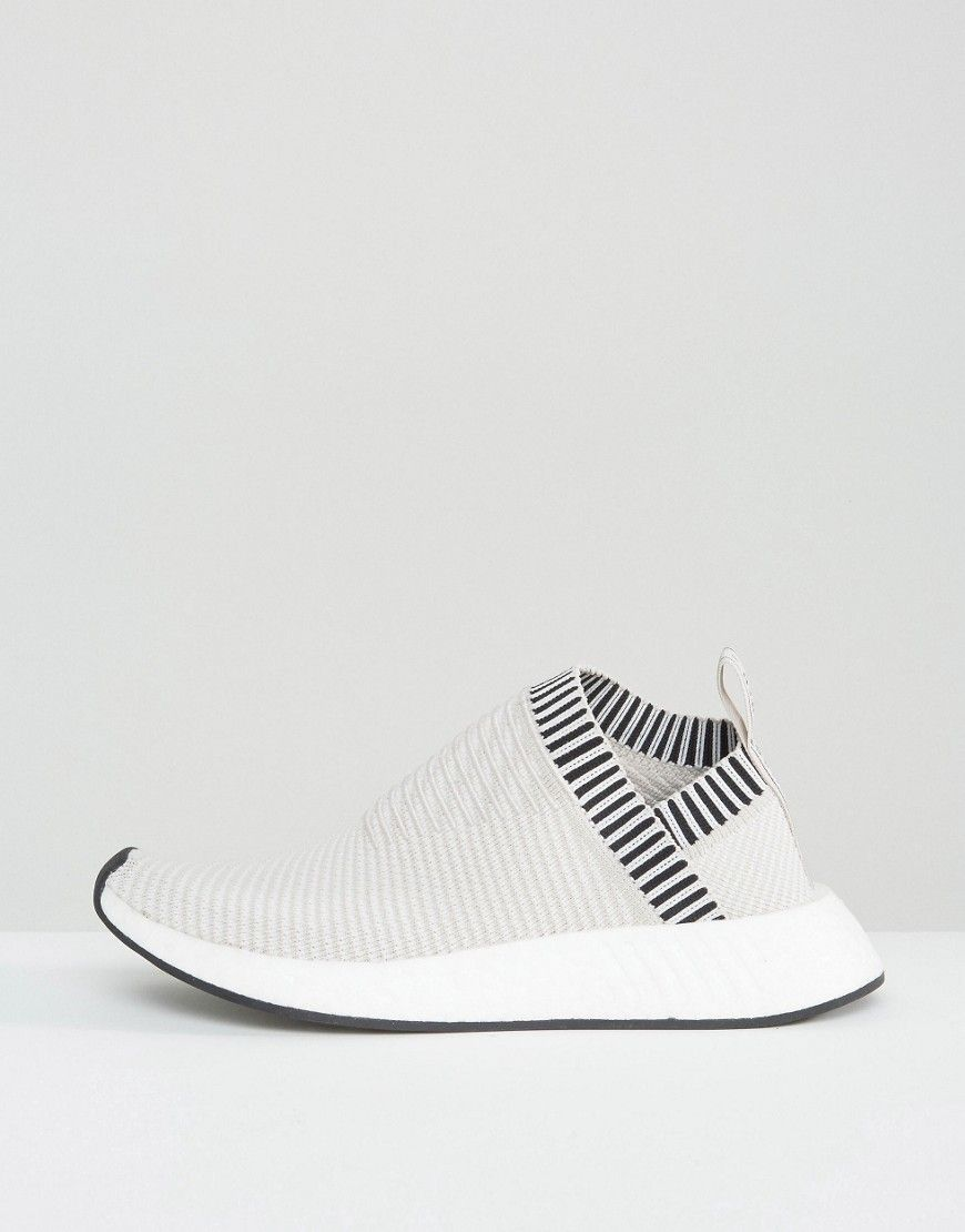 Buy it now. adidas Originals Beige Nmd Cs2 Primeknit Trainers - Grey.  Trainers by 08fc49567