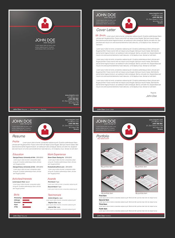 Free Modern Resume Template on Behance Education Resume Designs