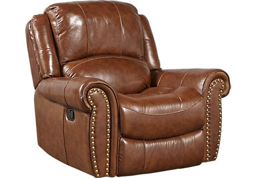 Picture Of Abruzzo Brown Leather Glider Recliner From Recliners