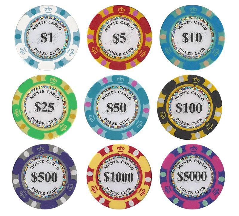 600 ct monte carlo 14 gram poker chip set w acrylic case