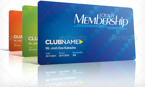 Club  Organization Plastic Membership Card  Cards