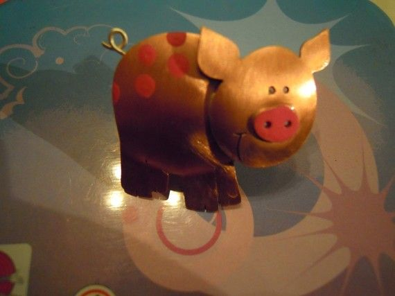 Pig ring by Giftforever on Etsy, €44.00