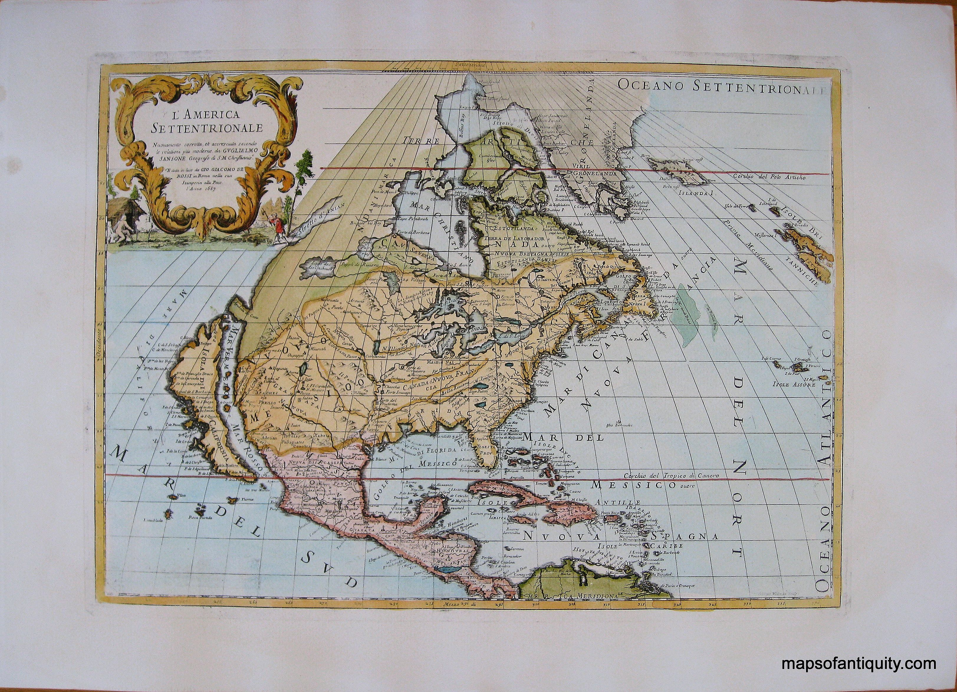 Reproduction of Antique Map showing California as an Island