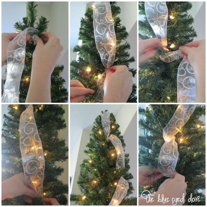 Christmas Trees Ribbon: Cool Ways To Wrap Ribbon Around A Christmas Tree