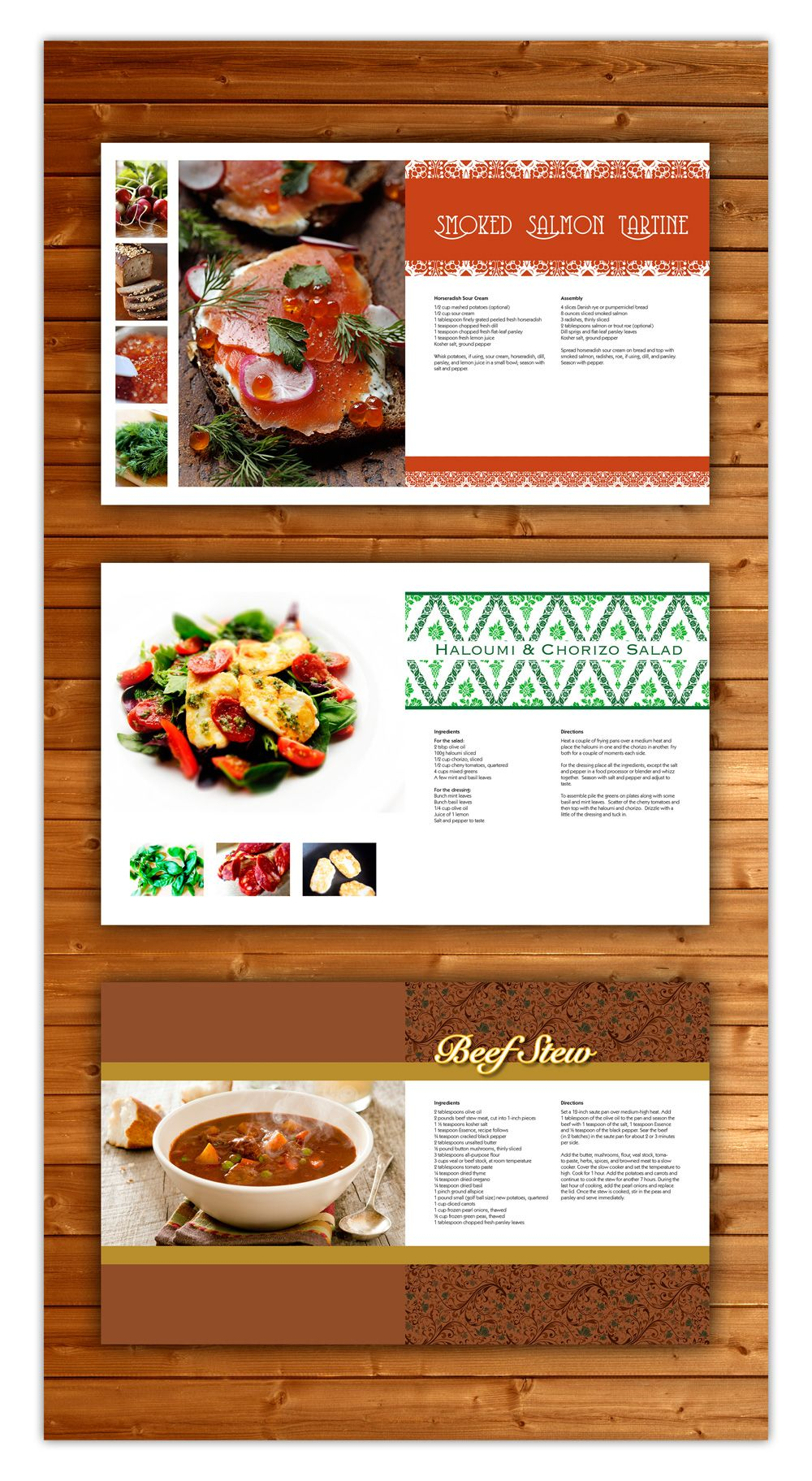 Layout of a cook book - each recipe spread is unique. | Design ...