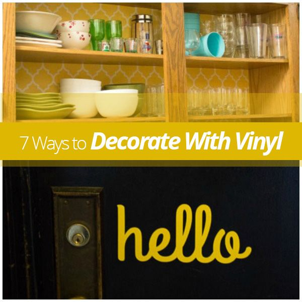 Diy Oil And Vinegar Shelf: 7 Ways To Decorate With Vinyl!
