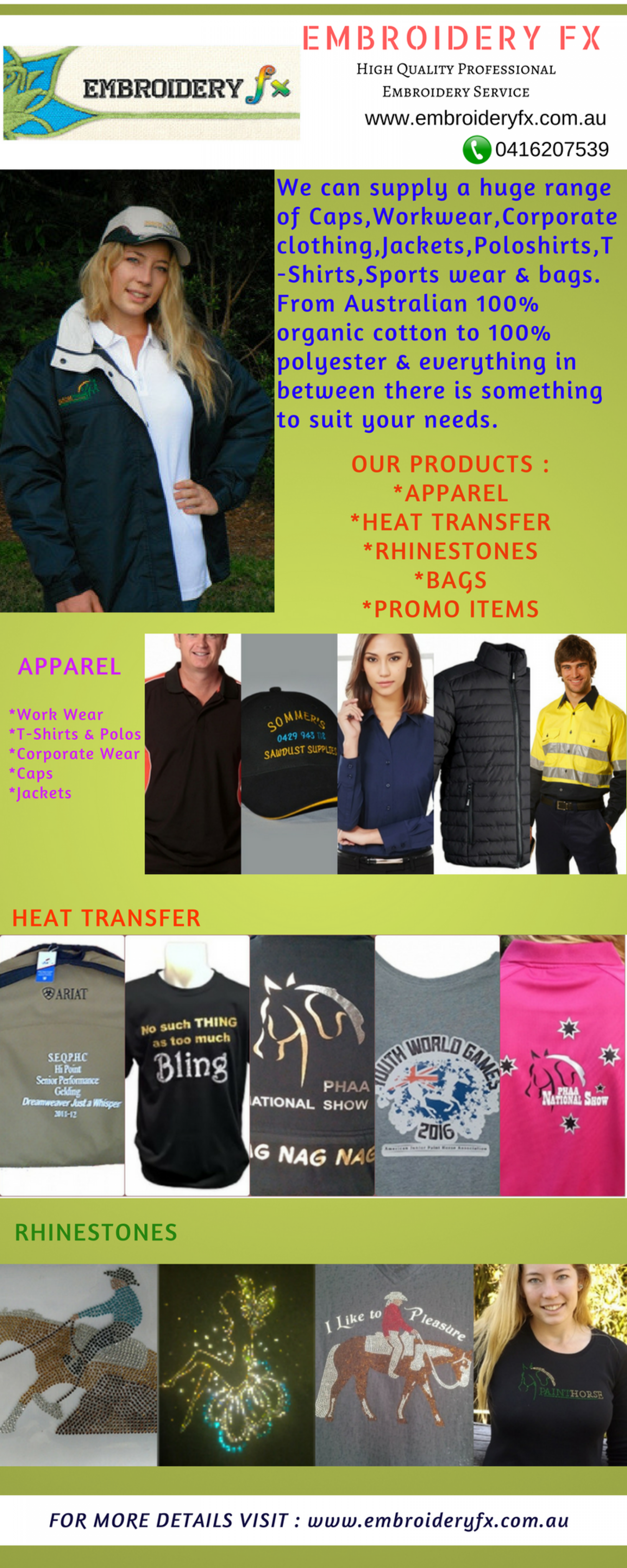9db137c18 A professional embroidery service to personalise apparel with your logo,&  name or choose a