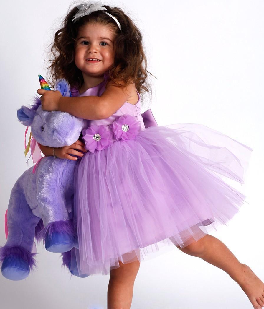 2016 lovely lavender lullaby flower girl dresses for