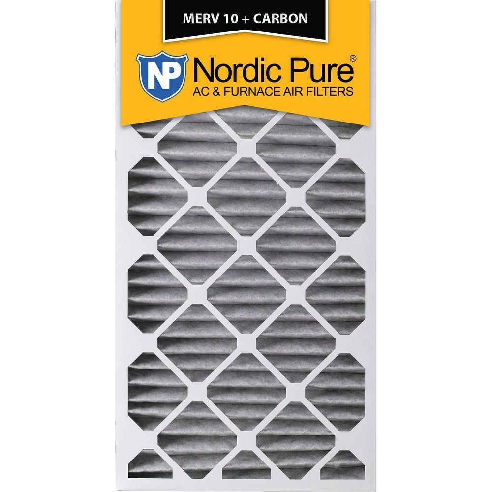 Nordic Pure 24x30x2 Pleated MERV 10 Plus Carbon AC Furnace