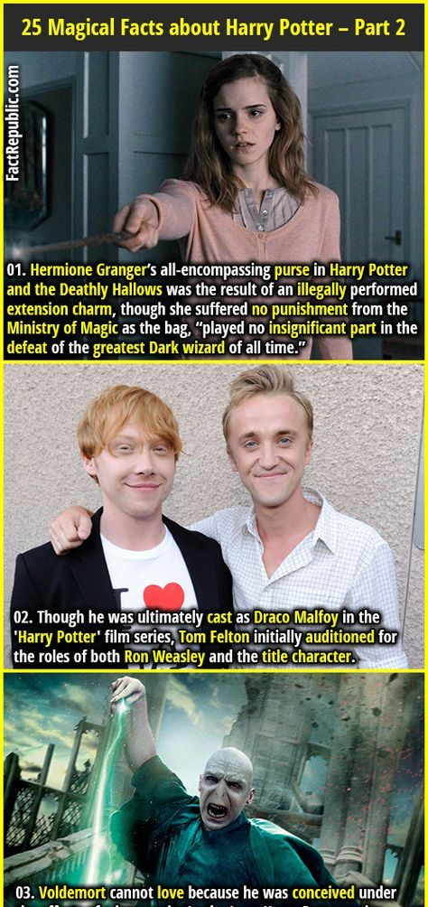 25 Magical Facts about Harry Potter Books and Movies