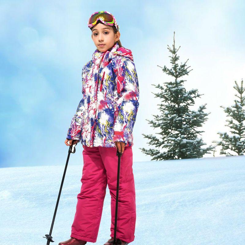 Aliexpress Com Buy Girls Waterproof Ski Suit Children Ski Jacket And Pants Warmth Thickened Winter Clothes 30 Degree Ski Jacket Kids Ski Jacket Kids Jacket