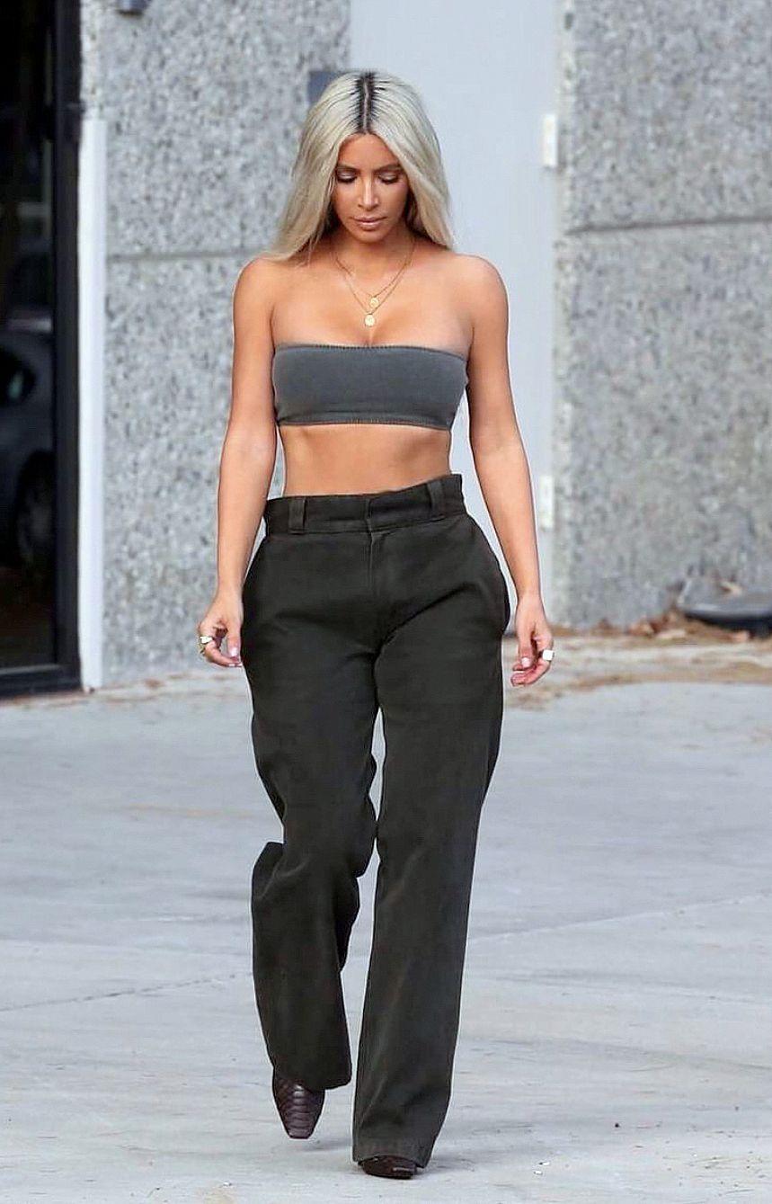 055da09132f85 Pinterest  DeborahPraha ♥ kim kardashian wearing yeezy look ...