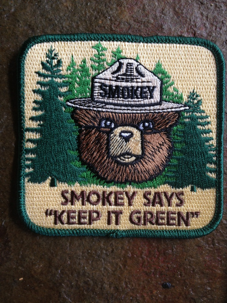 2013 Smokey The Bear Forest Service Fire Fighter Dept Patch Keep It Green  Patch 71a620faf93