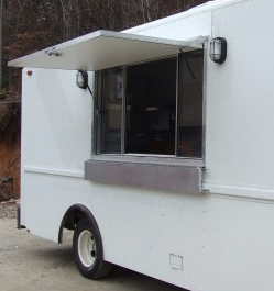 Installing A Serving Window Is An Important Part Of Any Food Truck Build After All You Need A Place To Hand Custo Food Truck Design Food Truck Menu Food Truck