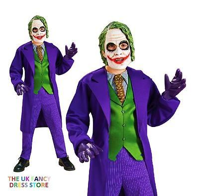 child deluxe the joker batman dc comic boys fancy dress costume kids age - Joker Halloween Costume Kids