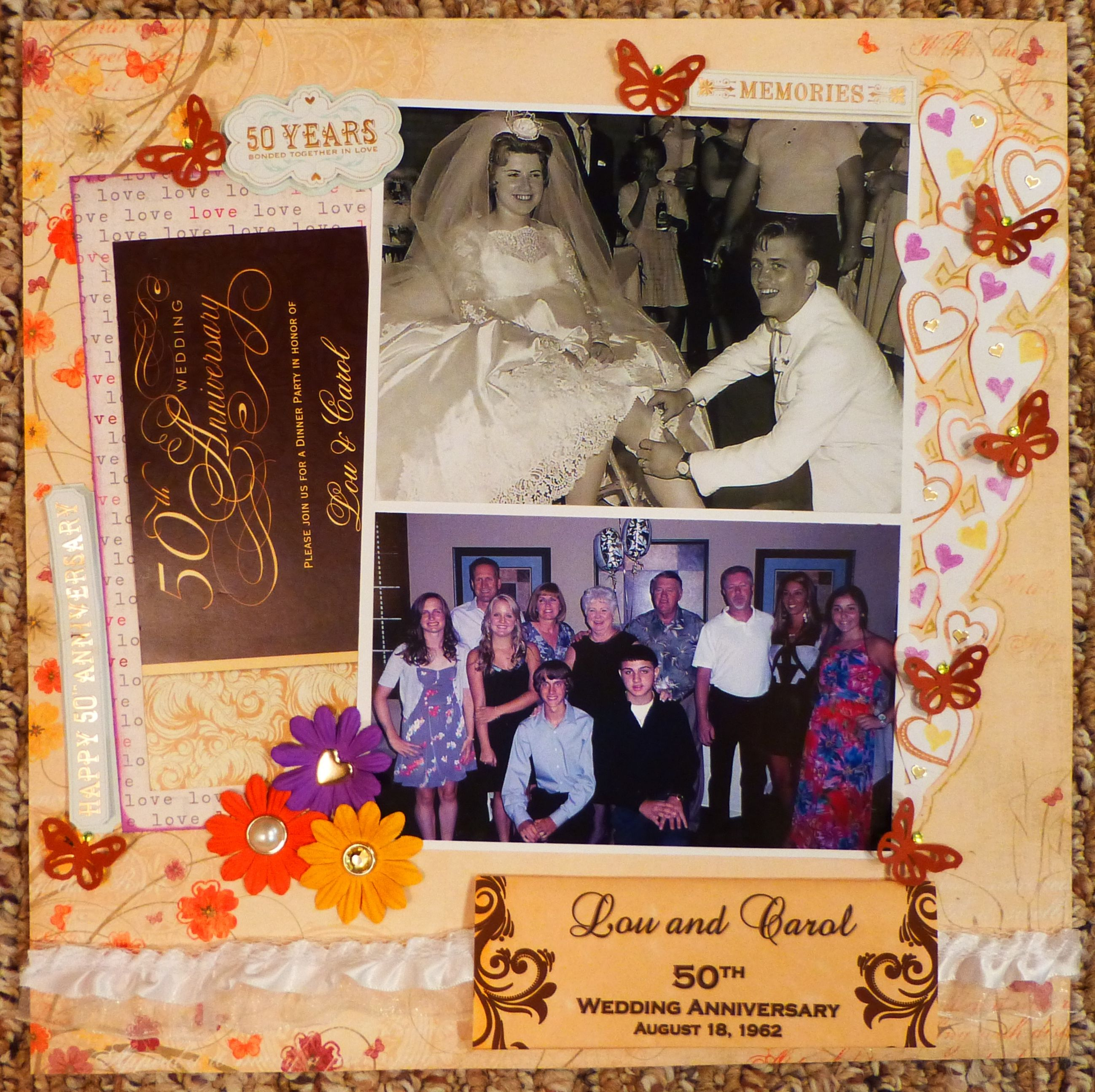 Family scrapbook ideas on pinterest - 50 Th Anniversary Scrapbook Com Remember To Use Mom Dad S Wedding Pic With