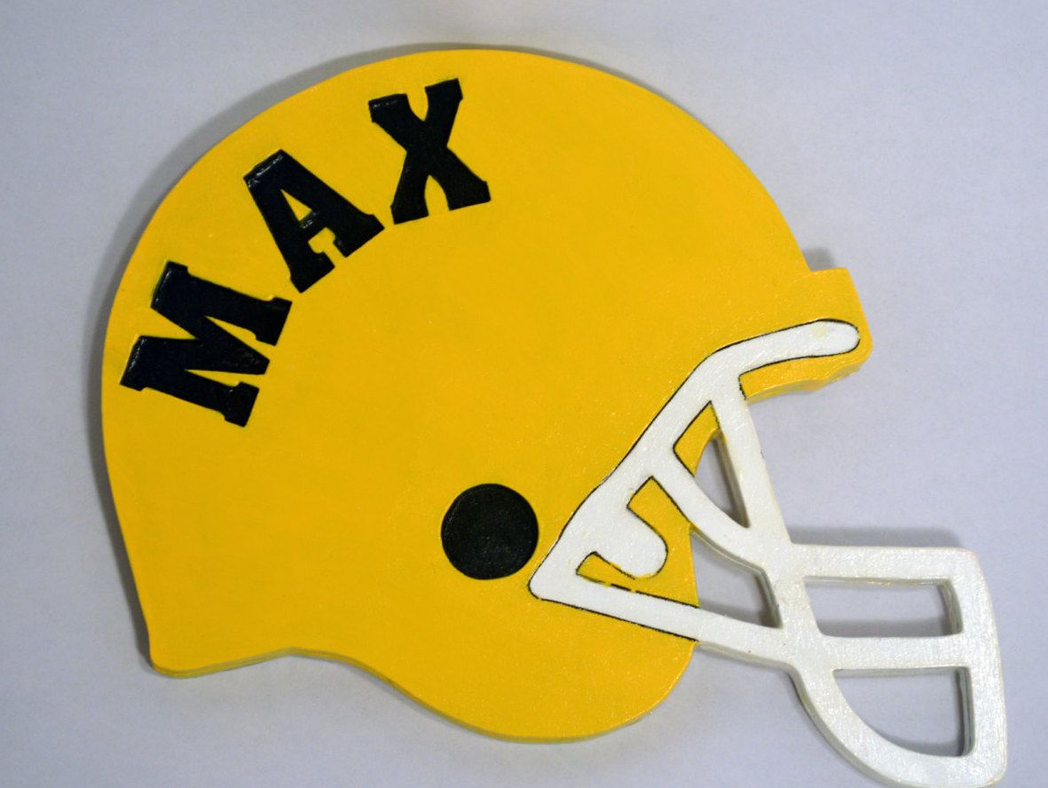 Wooden Football Helmet with any name and color - Nursery - Sports ...