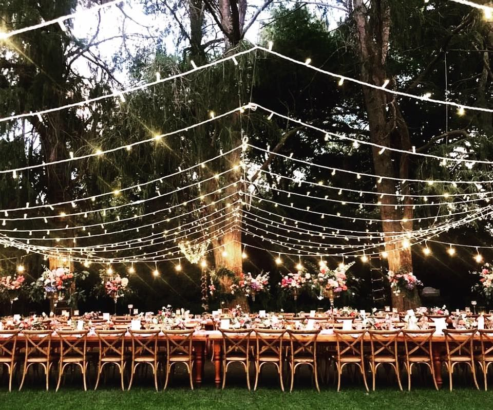 Outdoor Wedding Reception Featuring A Combination Of A