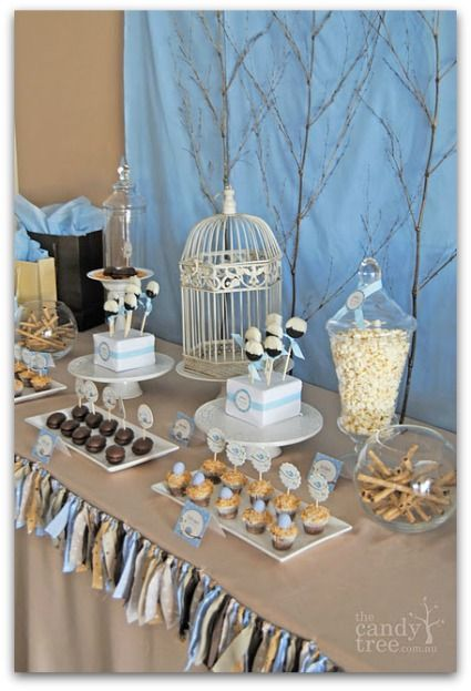 Bird Themed Baby Shower Centerpieces